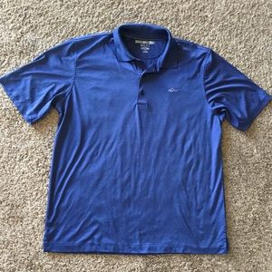 Greg Norman Blue Large silky collared shirt
